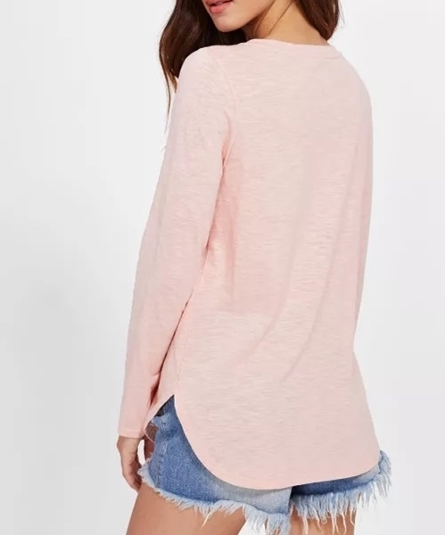 Picture of Thin V Strap Neckline Curved Hem T-shirt