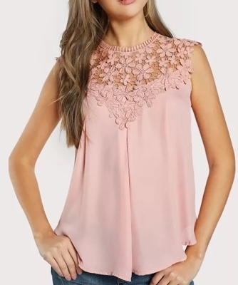 Picture of Crotchet Daisy Lace Shoulder Shell Top