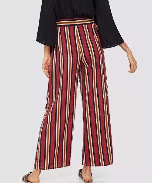Picture of Pocket Patched Striped Peg Leg Pants