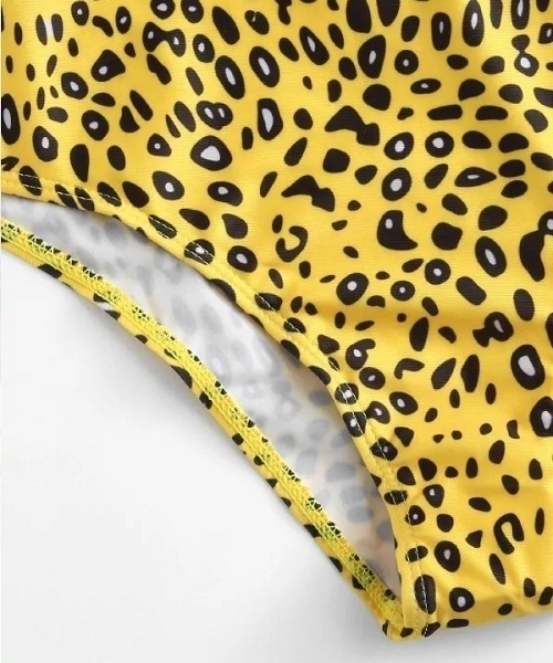 Picture of Leopard Print high Cut One Piece swimsuit