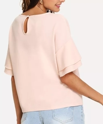 Picture of Drop Shoulder Layered Sleeve Top