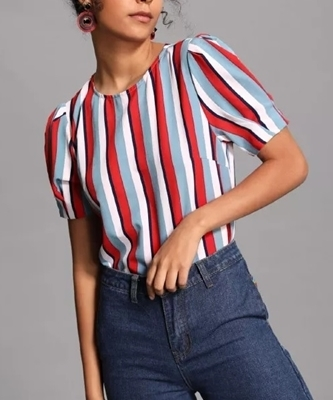 Picture of Striped Round Neck Top