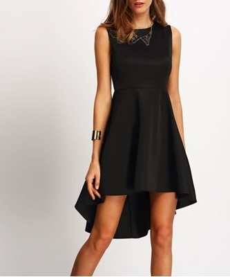 Picture of Asymmetrical Hem Flare Party Dress