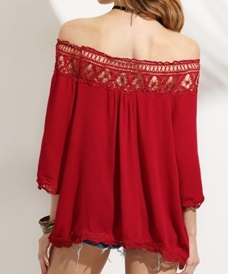 Picture of Crotchet detail off shoulder top