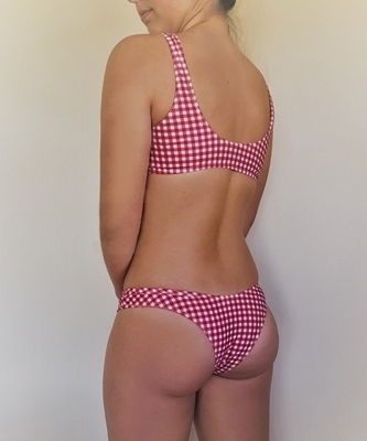 Picture of Cheeky Knot front Gingham Bikini Set