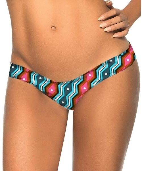 Picture of Brazilian G-String - Blue/Grey Print