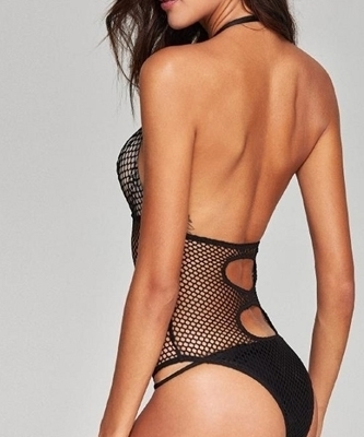Picture of Halter Net Lingerie Teddy