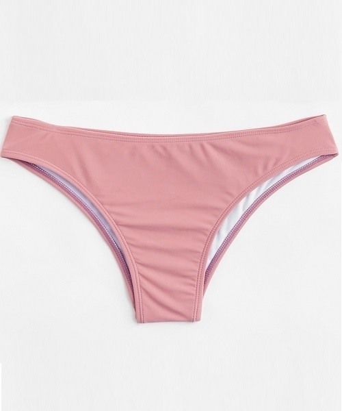 Picture of Light Pink Full Seamless Cover Bikini Bottom