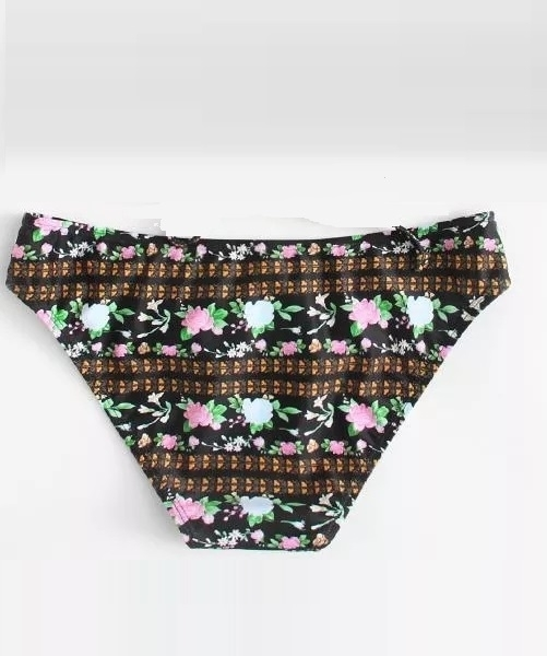 Picture of Cut Out Detail Floral Bikini Set