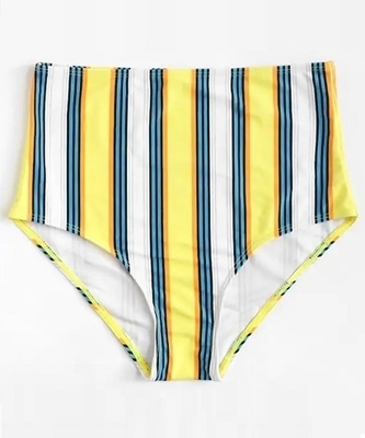 Picture of Stripe High Waist Bikini Bottom