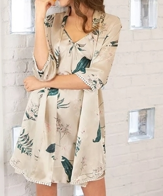 Picture of Botanical Sleep Cami and robe Sleepwear set