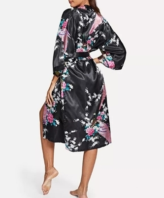 Picture of Floral Print Peacock Robe
