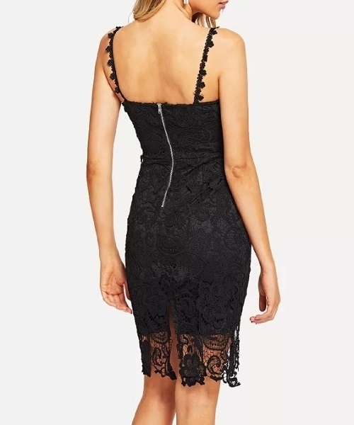 Picture of Full Lace Hollow Out Cocktail Dress