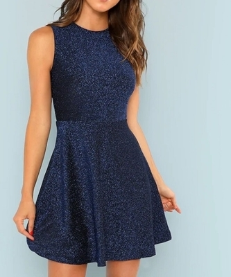 Picture of Glitter Fit and Flare cocktail dress