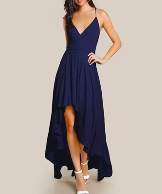 Picture of Backless High Low Cami Occasion Dress