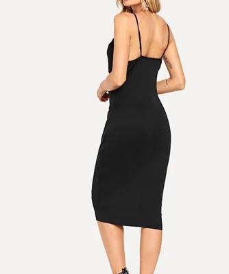Picture of Cross Over Cami V-Line Cocktail Dress
