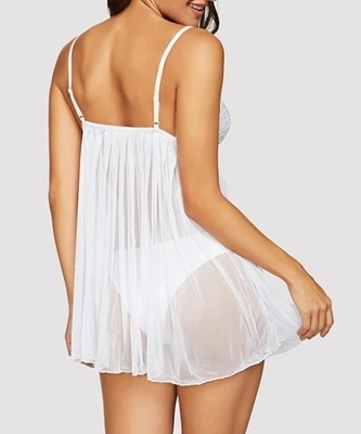 Picture of Contrast Lace Babydoll