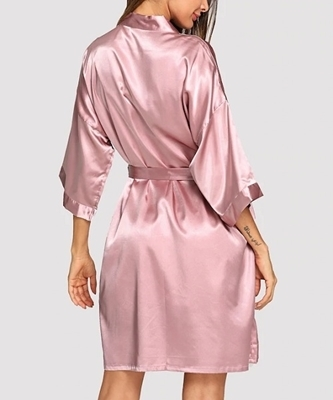Picture of Solid Self Belted Robe