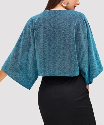 Picture of Open Shoulder Glitter Top