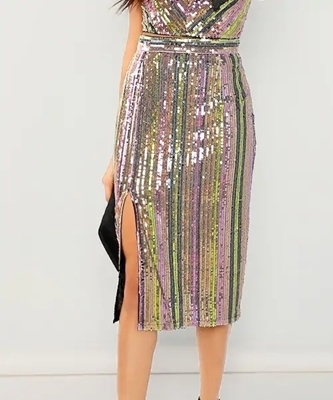 Picture of Colorful Sequin Party Skirt