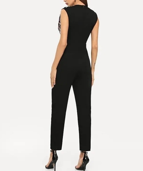 Picture of Surplice Neck Sequin Shell Evening Jumpsuit