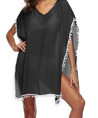 Picture of Tassel Detail Beach Cover-up