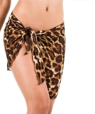 Picture of Animal print beach Sarong