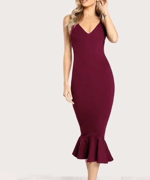 Picture of High Low Fishtail Form Fitting Dress