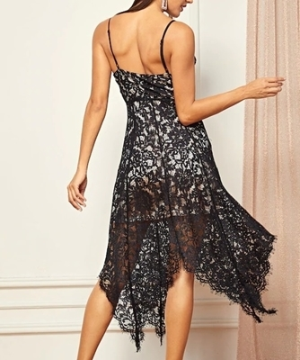 Picture of Lace asymmetrical Cami Occasion Dress