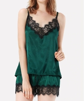 Picture of Eyelash Lace Cami Pajama Set