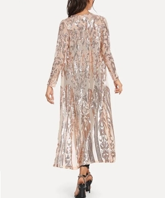 Picture of Contrast Sequin Open Front Outerwear