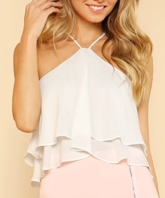 Picture of Halter Flow Zip Back Top