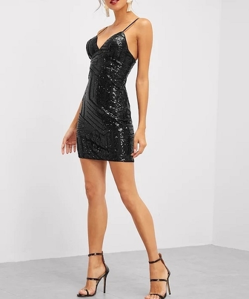 Picture of Bustier Sequin Cami Glamour Cocktail Dress