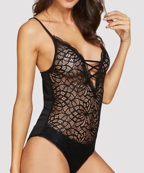 Picture of Criss Cross Lace Sexy Teddy