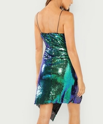 Picture of Surplice Wrap Iridescent Sequin Cami Cocktail Dress