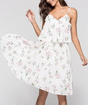 Picture of Floral Print Frill Trim Cami Dress