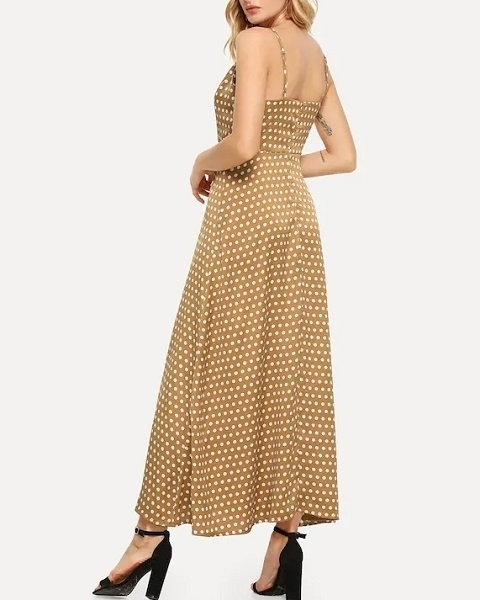 Picture of Polka Dot Print Cami Long Dress