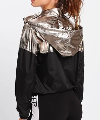Picture of Two Tone Metallic Hoodie Jacket