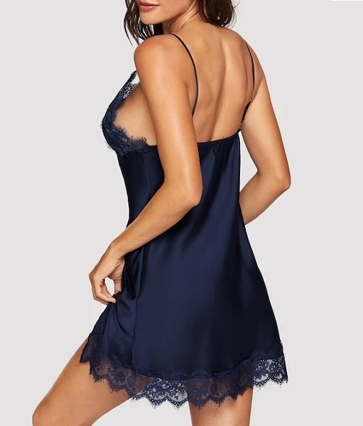 Picture of Contrast Lace Split Side Cami Babydoll