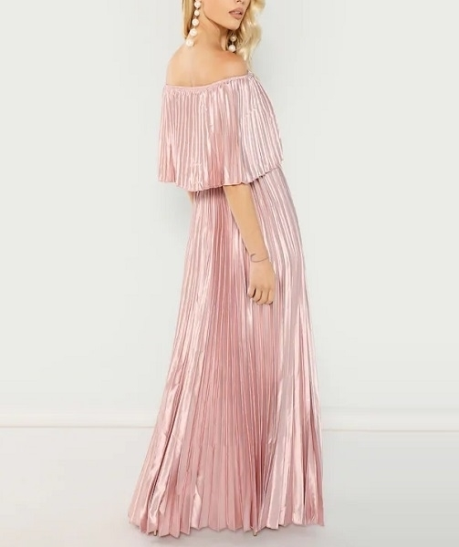 Picture of Bardot Pleated Maxi Occasion Long Dress