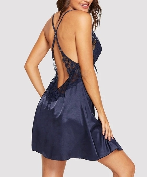 Picture of Contrast Lace Panel Babydoll