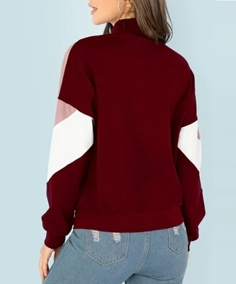 Picture of O-Ring Zip Front Cut and Sew Sweatshirt