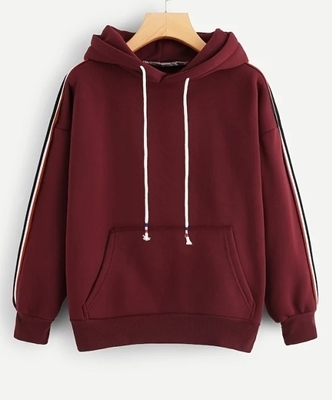 Picture of Striped Tape Side Pocket Detail Hoodie