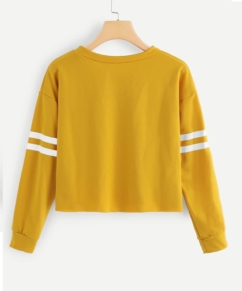 Picture of Contrast Crop Striped Sweatshirt