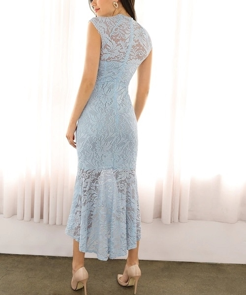 Picture of Lace Mermaid High Low Hem Occasion Dress