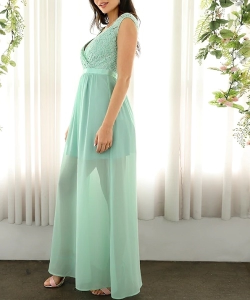 Picture of Cutout Back Floral Lace Bodice Sweetheart Occasion Dress @ Zando