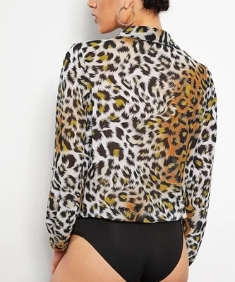 Picture of Leopard Print Collar Bodysuit