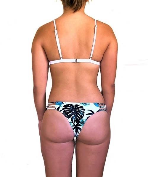 Picture of Tropical Cut out Cheeky Bikini Bottom