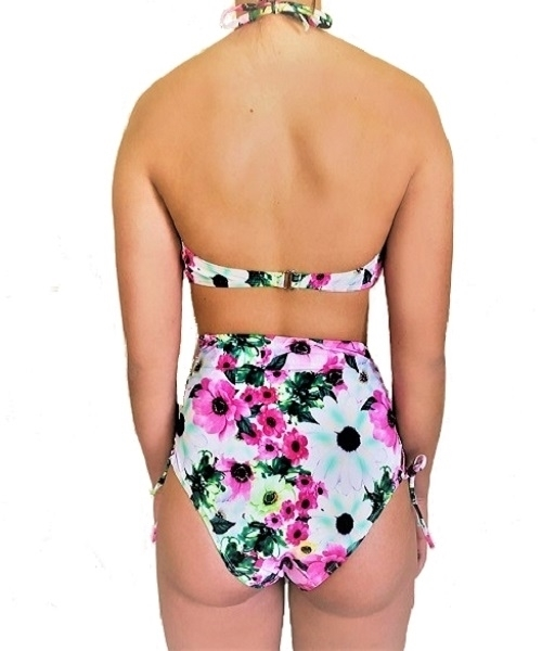 Picture of Floral Tie Up Side High Waist Bikini set