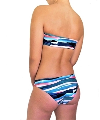Picture of Graphic Water Strapless half cut Bikini Set